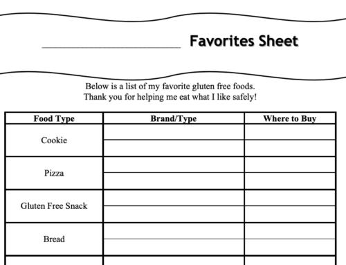 Favorites Sheet!